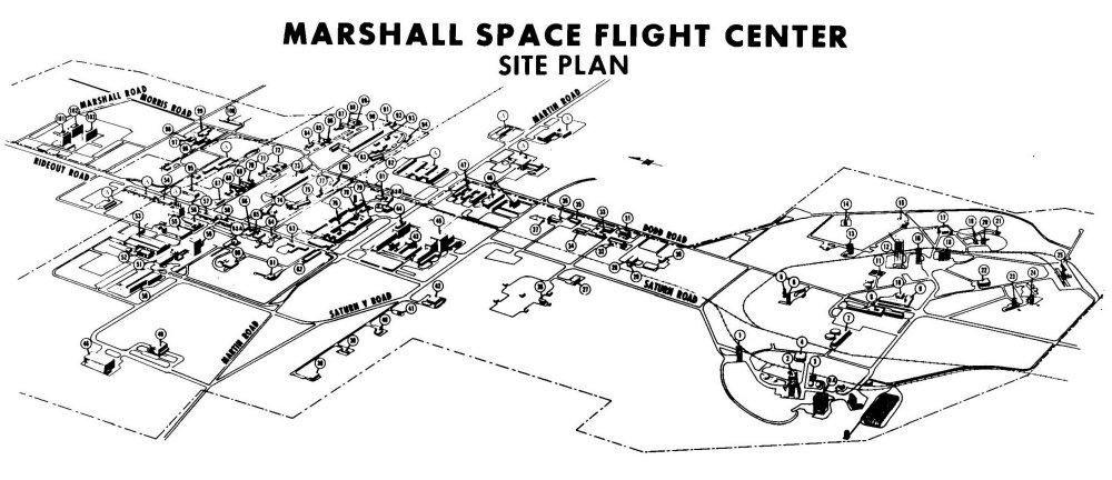 Marshall Space Flight Center Site Plan (circa 1970) - HHC